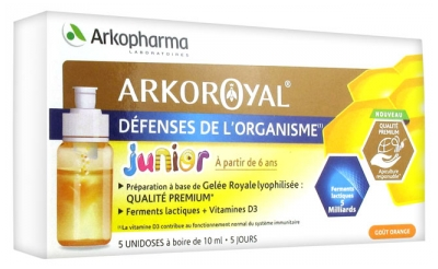Arkopharma Arko Royal Junior Défenses de l'Organisme 5 Unidoses