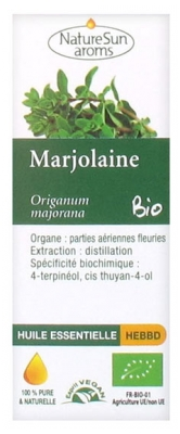 NatureSun Aroms Organic Essential Oil Marjoram (Origanum Majorana) 10ml