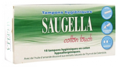 Saugella Cotton Touch 16 Tampons Hygiéniques Normal