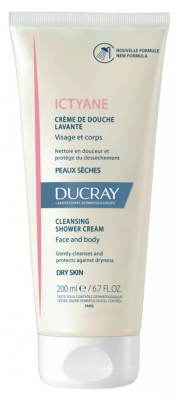 Ducray Ictyane Cleansing Shower Cream Face and Body 200ml
