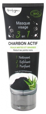 Bio4you Masque Visage 3 en 1 Charbon Actif 100 ml