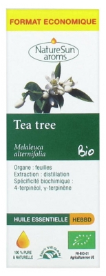 NatureSun Aroms Huile Essentielle Tea Tree (Melaleuca alternifolia) Bio Format Economique 30 ml