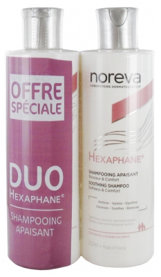 Noreva Hexaphane Shampooing Apaisant Lot de 2 x 250 ml