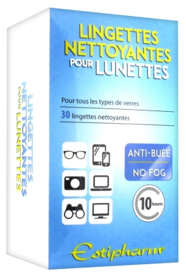 Estipharm Cleansing Wipes for Glasses 30 Wipes
