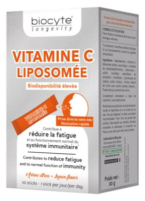 Biocyte Longevity Vitamina C Liposoma 10 Sticks