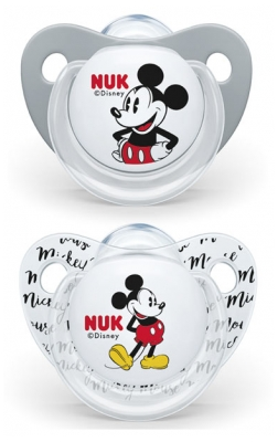 NUK 2 Sucettes Silicone Disney Baby 6-18 Mois