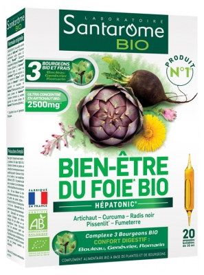 Santarome Bio Organic Liver Well-Being 20 Phials