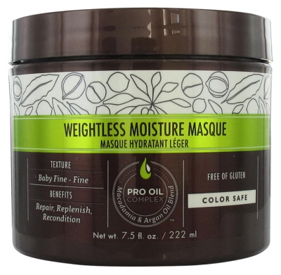 Macadamia Weightless Moisture Masque Hydratant Léger 222 ml