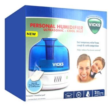 Vicks Personal CoolMist Ultrasonic Humidifier VUL505E4