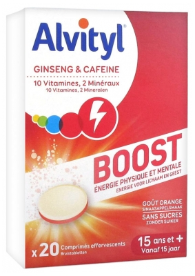 Alvityl Boost Ginseng and Caffeine 20 Tablets