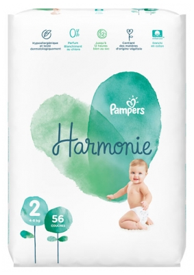 Pampers Harmonie 56 Diapers Size 2 (4-8Kg)