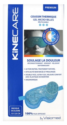 Visiomed Kinecare Eye Mask Thermic Cushion 10 x 20cm - Colour: Turquoise