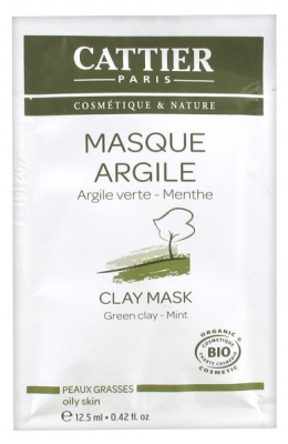 Cattier Green Clay Mask Oily Skin 12,50ml