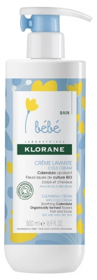 Klorane Baby Cleansing Cream with Cold Cream 500ml