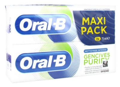 Oral-B Dentifrice Gencives Purify Lot de 2 x 75 ml