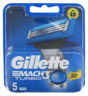 Gillette Mach3 Turbo 3D Refill of 5 Blades