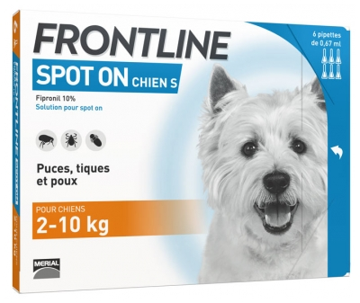 Frontline Spot-On Dog Size S 6 Pipettes