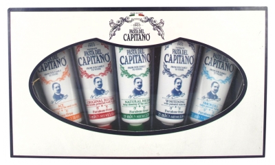 Pasta del Capitano Coffret Dentifrices 5 tubes x 25 ml