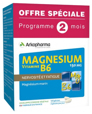Arkopharma Magnesium Vitamin B6 150mg 120 Capsules Special Offer