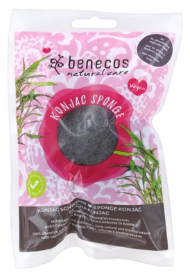 Benecos Natural Care Konjac Sponge with Bamboo Charcoal Oily Prone Skins