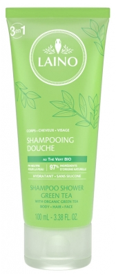 Laino Shampoo Shower Organic Green Tea 100ml