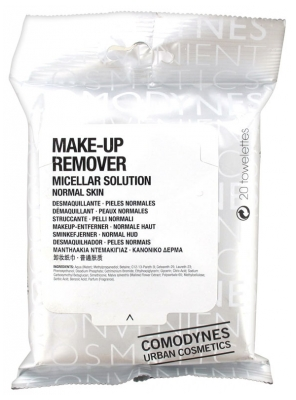 Comodynes Make-Up Remover Normal Skin 20 Wipes