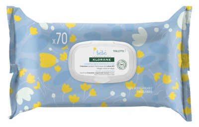 Klorane Baby 70 Gentle Cleansing Wipes