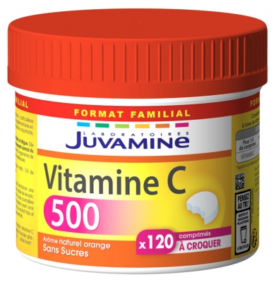 Juvamine Vitamin C 500 120 Tablets to Crunch