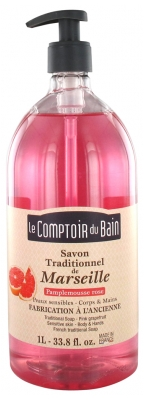 Le Comptoir du Bain Pink Grapefruit Marseille Traditional Soap 1L