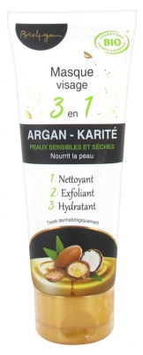 Bio4you Masque Visage 3 en 1 Argan Karité 100 ml