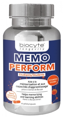 Biocyte Longevity Memo Perform 60 Capsules
