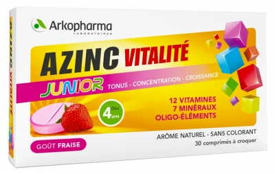 Arkopharma Azinc Vitality Junior 30 Tablets