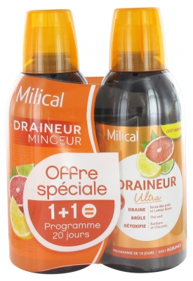 Milical Draining Ultra 2 x 500ml - Flavour: Citrus