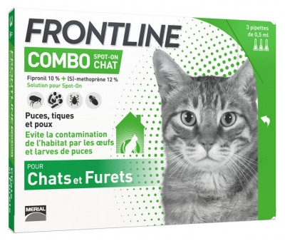 Frontline Combo Spot-On Cats and Ferrets 3 Pipettes