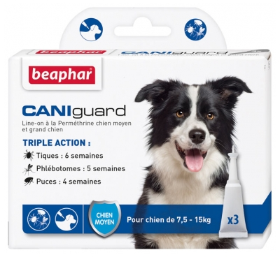 Beaphar Caniguard Line-On Medium Dog and Large Dog 3 Pipettes of 4ml