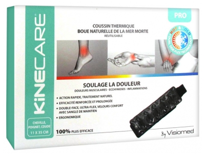 Visiomed Kinecare Ankle Wrist Elbow Thermic Cushion Natural Mud of the Dead Sea 11 x 35cm