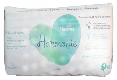 Pampers Harmonie 40 Diapers Size 4 (9-14Kg)