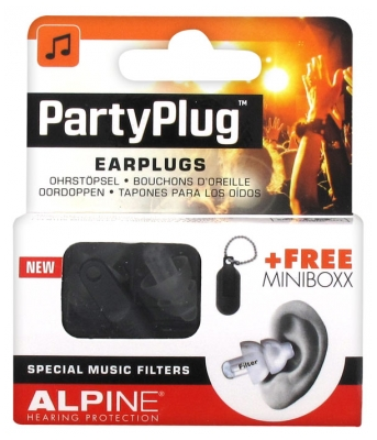 Alpine Hearing Protection Partyplug Earplugs + Free Minibox