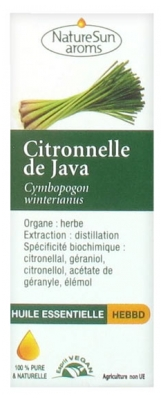 NatureSun Aroms Essential Oil Citronella Java (Cymbopogon Winterianus) 10ml