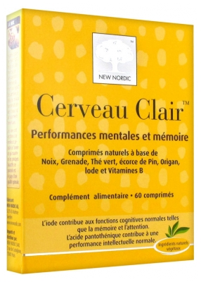 New Nordic Clear Brain 60 Tablets