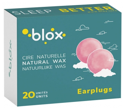 Blox Earplugs Natural Wax 20 Units