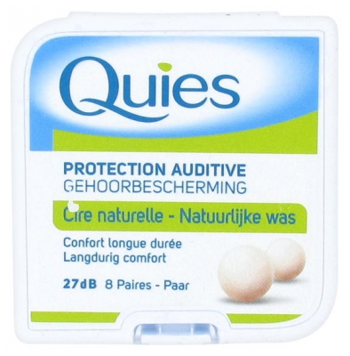 Quies Protection Auditive à la Cire Naturelle 8 Paires