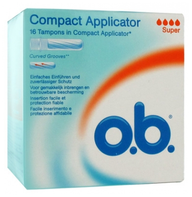 o.b. Compact Applicator 16 Super Tampons