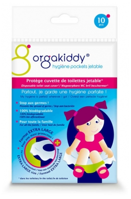 Orgakiddy Protège Cuvette de Toilettes Jetable Extra Large 10 Protections