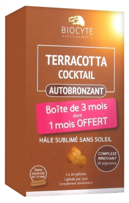 Biocyte Terracotta Cocktail Autobronzant Lot de 3 x 30 gélules