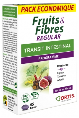 Ortis Fruits & Fibres Regular 45 Comprimés