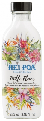 Hei Poa Tahiti Monoï Oil With Monoï Oil 1000 Flowers 100ml