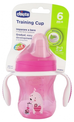 Chicco Training Cup 200ml 6 Months and + - Colour: Pink