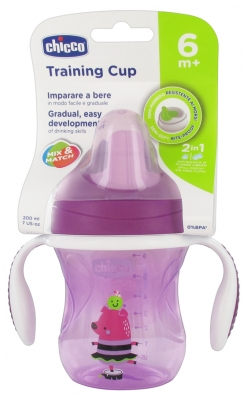 Chicco Training Cup 200ml 6 Months and + - Colour: Mauve