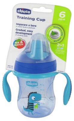 Chicco Training Cup 200ml 6 Months and + - Colour: Blue